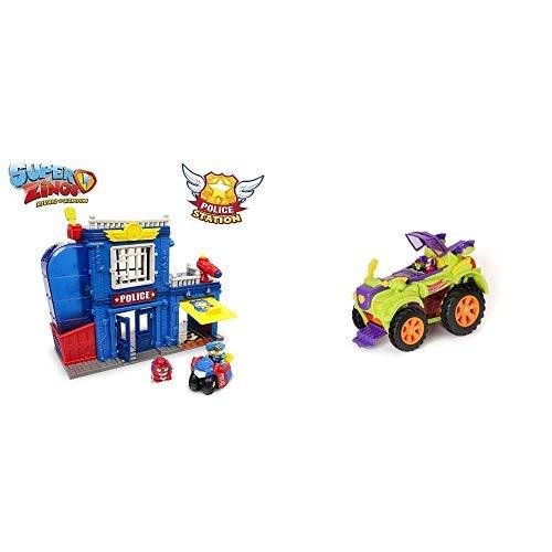 SuperZings -  Estación De Policía,  con 2 exclusivas Figuras + PlaySet Villano Truck Especial Vehículos y Figuras coleccionables,  Color Verde