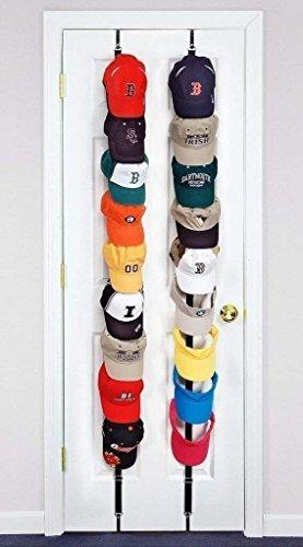Baseball Cap Rack Storage Zwei Racks Können für Verwendung in Zwei Verschiedenen Räumen Hervorragende Ball GAP Rack Storage Holder Organizer Hüte Regal Cap Holder (Rosa und schwarz)