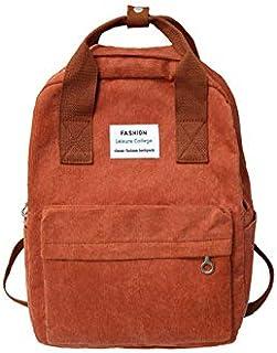 Backpack Outdoor Casual Travel Bag Cute Purse Small Cute Corduroy Solid Zipper Below 20 Litre Black Mini Backpack,Orange