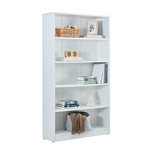 Bestmart Kids House Style Cottage Bookcase Wooden Furniture Book Storage Organizer Shelves,White