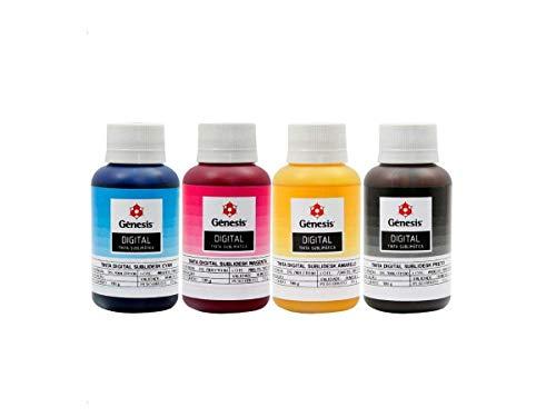 Tinta Sublimática Gênesis original 4 cores 100ml cada frasco