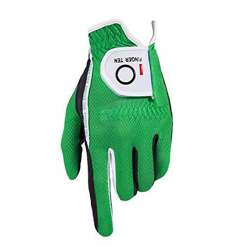 FINGER TEN Men's Golf Glove Rain Grip Black Grey Pack, Durable Fit...