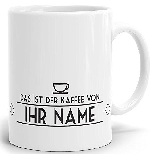 Mugvilla Namenstasse-Tasse-Becher-Kaffeetasse-mit Name-mit Namen individuell und persönlich Motiv Meine Tasse Vintage Tasse