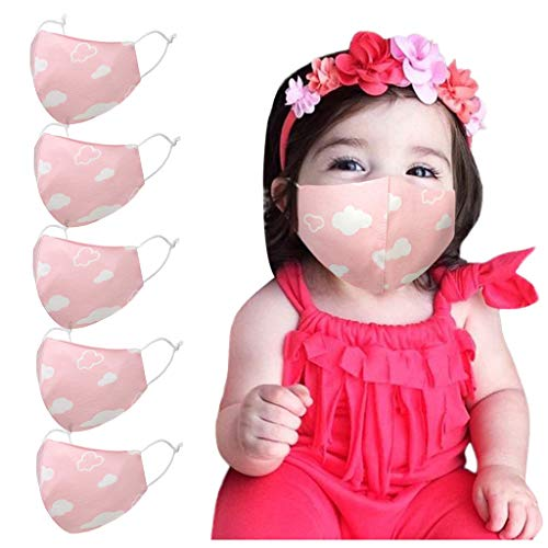 Daringjourney Baby Mundschutz Mit Musterdruck Mund Und Nasenschutz Waschbar Wiederverwendbar Schutz Face Stoff Covering Bandana Für Jungen Mädchen Gesichtsbedeckung(B)