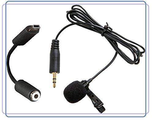Micrófono de corbata omnidireccional, para GoPro Hero4, Hero3+, Hero3, color negro, plateado, blanco, música, edición