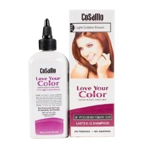 Love Your Color Cosamo Non Permanent Hair Color, Light Golden Brown