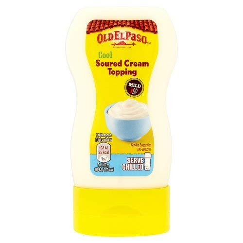 Old El Paso Mexican Cool Soured Cream Topping Squeezy, 230g