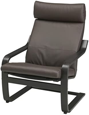 Amazon Com Ikea Poang Chair Armchair With Cushion Cover And Frame