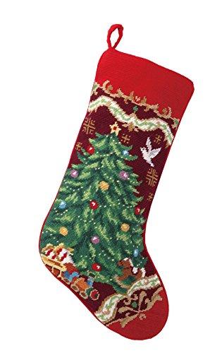 Peking Handicraft 31SJM4513MC Christmas Tree Needlepoint Stocking, 11x18