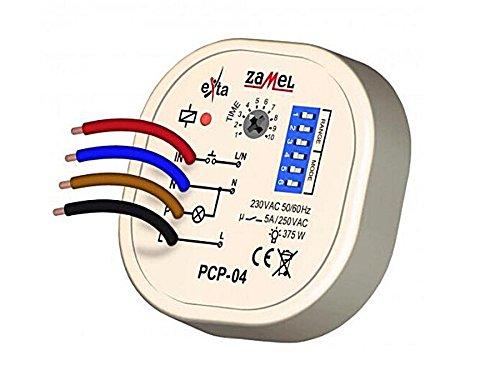 Zamel PCP-04 Tijdrelais Multifunctioneel relais voor inbouw, blikken, tijdschakelaar, 8 verschillende functies, timer, tijdschakeling, impulsrelais