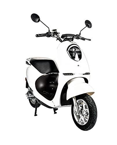Home Deluxe - E-Roller Lorenzo - Farbe: weiß - inkl. Zulassung 45 km/h | E Scooter, Elektro Roller, Vespa