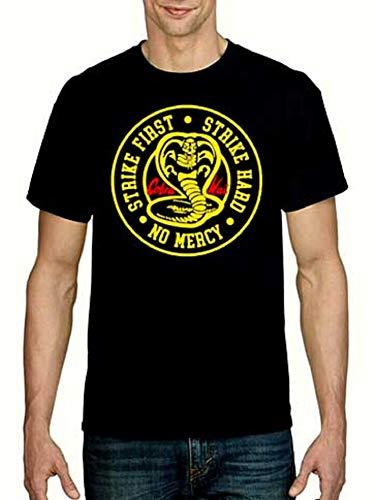 RUL Camiseta Cobra Kai, Serie DE Karate,TV Karate Kit 100% Algodon para LA Camiseta Cobra Kai Unisex (Comprobar Medidas EN LA Foto) (Negro, XL)