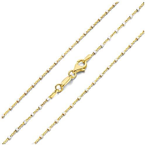 MY iMenso CUBETTO halsketting zilver verguld 42 cm 27-0013-42
