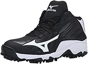 Mizuno Men's 9 Spike ADV Erupt 3 MID BK-WH-M, Black/White, 11 M US