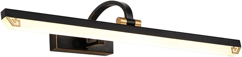 Spiegelleuchten Spiegel Scheinwerfer Einfache Wasserdichte Einzigen Kopf Kosmetikspiegel Schminktisch Badezimmer Moderne Acryl Spiegel Kabinett Licht (Farbe   6000k-56CM-11w)