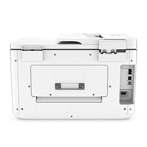 HP OfficeJet Pro 7740 – Impresora multifunción de gran formato (impresión y escaneo A3, pantalla táctil, memoria 512 MB, AAD de 35 hojas, doble cara, fax, Apple AirPrint), color blanco