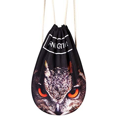 Mochila Bolsa Sackpack Deporte Gimnasio Saco Bolsas de cuerdas Gymsack Backpack para Hombre y Mujer tres animales