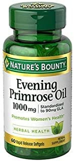 Nature's Bounty Evening Primrose Oil 1000 mg - 60 Softgels, Pack of 6