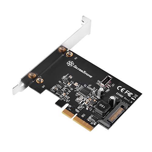 SilverStone Technology USB 3.1 Gen 2 Internal 20Pin Connector Type-C Port Header to PCIe Gen 3.0 X2 Ecu02
