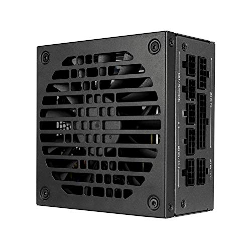 Fractal Design Ion SFX 650G - 80 Plus Gold Certified 650W Full Modular SFX-L Power Supply with UltraFlex DC Wires – 120 mm Silent Fan with FDB Bearings – Zero RPM Mode - Black
