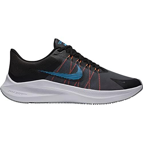 Nike Winflo 8, Zapatillas para Correr Hombre, Dk Smoke Grey Black Coast Total Orange White, 46 EU
