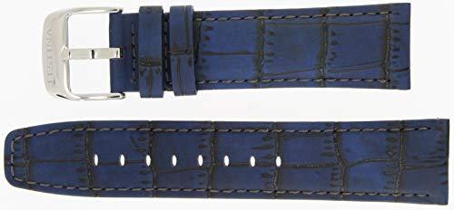 Festina Ersatzband Uhrenarmband Leder Band Fliegerbandoptik 23mm Blau F16573/7 F16573/