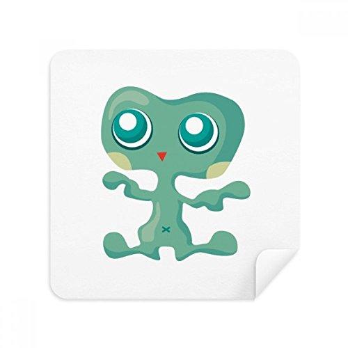 DIYthinker Universum Alien Monster Green Alien Bril schoonmaken doek Telefoon Screen Cleaner Suede Stof 2 Stks