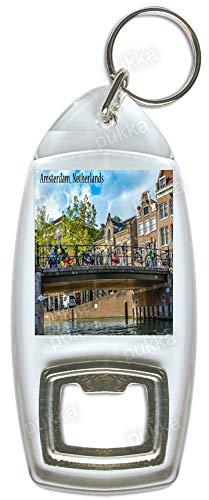 Amsterdam/Nederland Brug – Souvenir Fles Opener Sleutelhanger
