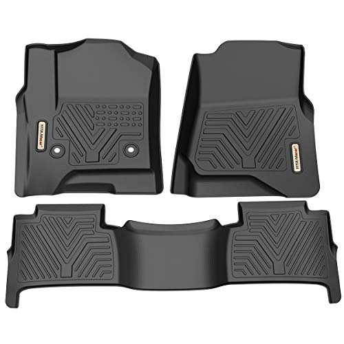 YITAMOTOR Floor Mats for Tahoe/Yukon, Custom fit Floor Liners for 2015-2020 Chevrolet Tahoe/GMC Yukon, 1st & 2nd Row All Weather Protection