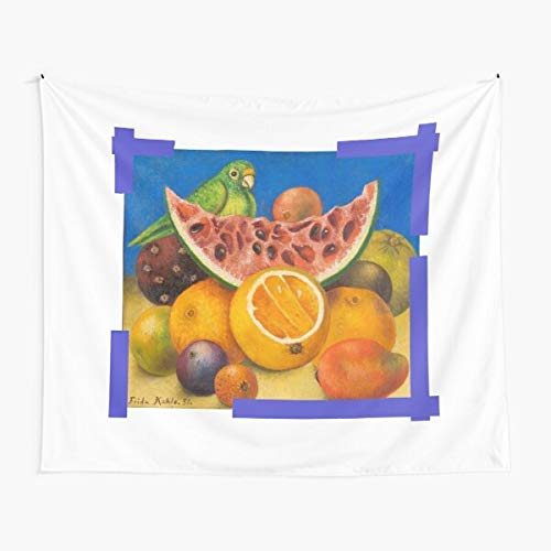 18 ''Untitled (Still Life with Parrot and Fruit)'' Tapestry