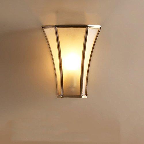 Slaapkamer Armaturen Amerikaanse Creative Single Head volledig koperen wandlamp Bedside Trap Aisle Balkon Woonkamer Slaapkamer Glass Wall Light W Wandlamp Verlichting (Design : 5)