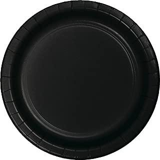 black paper party plates