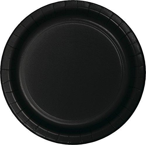 Creative Converting 75-Count Value Pack Paper Dessert Plates, Black Velvet -