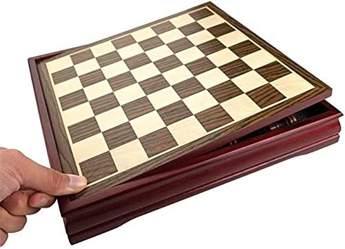 Juego de tablero de ajedrez internacional, magnético, mesa de centro de madera para niños Tablero de ajedrez profesional Juegos familiares Juego de ajedrez Juegos tradicionales Tra (juegos de ajedrez)