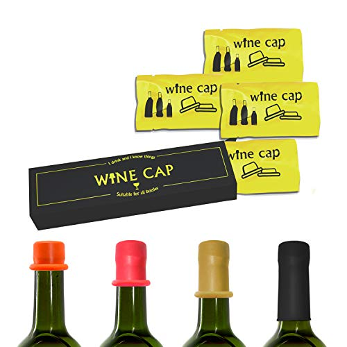 Wine Bottle Stoppers 8 PCS, Wine Cap Condom Shape Novelty Champagne Sealer Plug Reusable Wine Saver Cork Keep Wine Fresh, Gifts Accessories for Wine