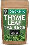 Organic Thyme Leaf Tea Bags | 100 Tea Bags | Eco-Conscious Tea Bags in Kraft Bag | by FGO