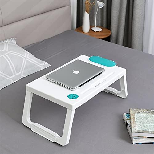QNMD Tabla portátil del Escritorio de la Bandeja del Laptop de la Cama de la Laptop para la Cama Plegable Plegable Mesa para Comer el Dibujo de Juegos de Trabajo 520 (Color : Green)
