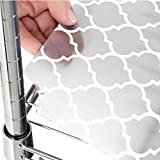 Gorilla Grip Heavy Duty Premium Wire Shelf Liners, Waterproof Value Pack for Wired Metal Rack Shelving and Cabinets Shelves, Polypropylene Liner for Kitchen, Garage, Set of 5, 30 x 14 Inch, Quatrefoil