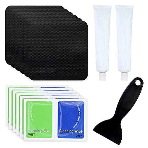 Bher Trampoline Patch Repair Kit 5 x 5 Square On Patches | Repair Trampoline Mat Tear or Hole in a Trampoline Mat (Square 6 Packs)