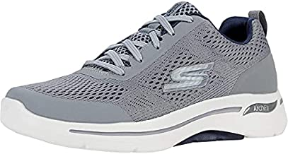 Skechers Men's Gowalk Arch Fit-Athletic Workout Walking Shoe with Air Cooled Foam Sneaker, Grey/Navy, 8.5 X-Wide