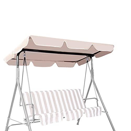 GIANTEX – Copertura Universale per Dondolo, Tettuccio Tetto di Ricambio per Dondolo da Giardino per Esterno (beige, 196 x 109 cm)