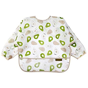 Baby Smock With Long Sleeves-Toddler Soft Bib For 6-24 Months