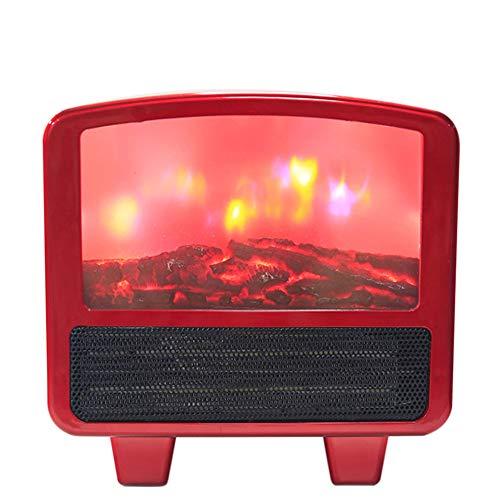 HBHHB Elektrische open haard, decoratief, 2 soorten temperatuur, warm licht, elektrisch verwarmingssysteem, snelle warmte, dubbele bescherming, laag lawaai, 24 x 30 x 14 cm