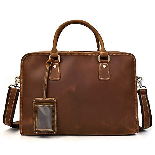 Laptop Briefcase Men's Business Messenger Tote Bag Mens Classic Briefcase 14inch Laptop Satchel Bag Expandable Crossbody Shoulder Bag Genuine Leather Handbag Messenger Tote Bag Men Women Classic Commu