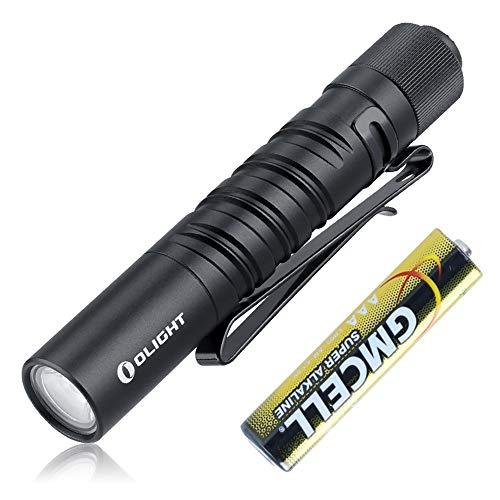 Olight I3T EOS LED Linterna Llavero,Mini Flashlight,Antorcha Pequeña Luz Portátil de Alta Potencia,180 Lúmenes,IPX8,con 2 Modos de Luz,Batería AAA Incluida,para Uso en Casa o al Aire Libre