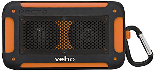 Veho Vecto Mini Speaker con Bluetooth, Waterproof, 2X3 W, Arancione
