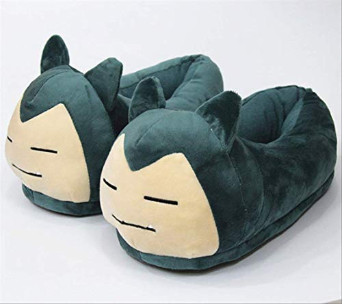 GYYOU Plush Slippers Plush Shoes Anime Cartoon Home House Winter Slippers Cosplay Shoe Gift for Kids 28 cm Snorlax