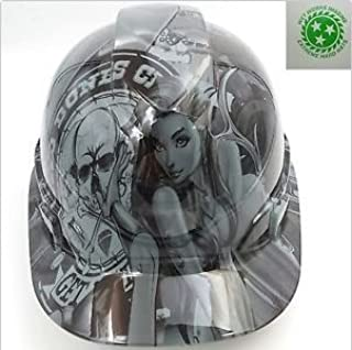 Wet Works Imaging Customized Pyramex Cap Style Gray Bad Bones Club Hard Hat With Ratcheting Suspension