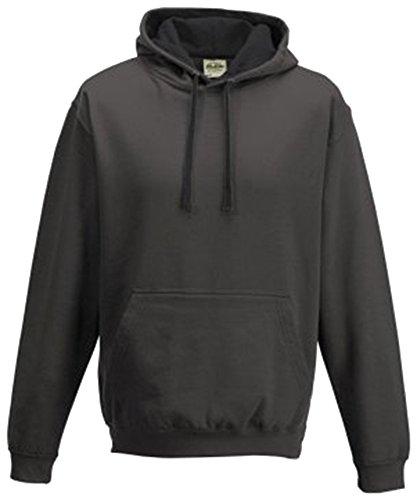 Cotton Ridge AWDis Varsity Hoodie : Color - Charcoal : Size - M