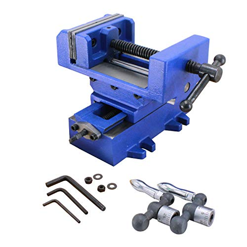 HFS (R) Compound Cross Slide Industrial Strength Benchtop & Drill Press Vise (4IN)